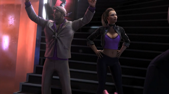 Pierce and Shaundi in the Saints Row The Third Power CG trailer