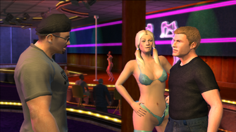 Random Stripper in Japanese Escort cutscene
