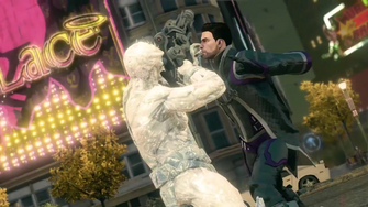 Saints Row IV Announce Teaser - frozen enemy