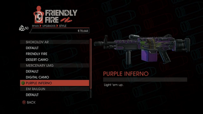 Weapon - Rifles - Automatic Rifle - Mercenary LMG - Purple Inferno