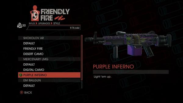 Weapon - Rifles - Automatic Rifle - Mercenary LMG - Purple Inferno