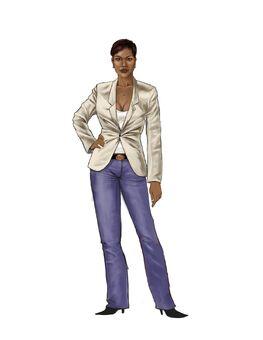 Aisha Saints Row 2 Concept Art 01 - Early design