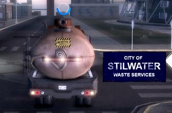 City Waste Truck - rear