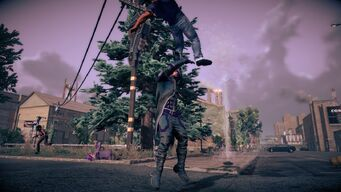 Combat in Saints Row IV - Super gorilla press back kick head stomp - start
