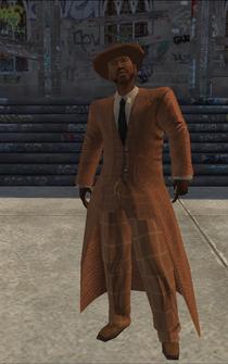 Pimp-01 - black with orange coat - character model in Saints Row
