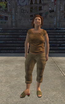 PoorHeavy female - white - character model in Saints Row