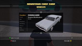Saints Row Chop Shop - Downtown - Cavallaro