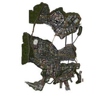 Stilwater map in Saints Row