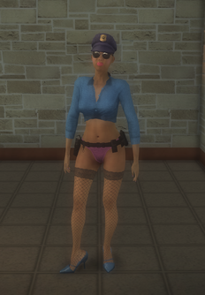 Stripper female - black Cop - character model in Saints Row 2