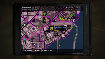 Taxi Service - choosing destination in Saints Row 2