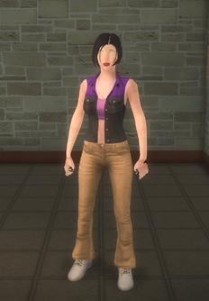 Broken NPC - saint female soldier - character model in Saints Row 2