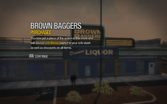 Brown Baggers in Sommerset purchased in Saints Row 2