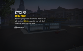 Cycles in Amberbrook purchased in Saints Row 2