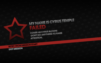 My Name is Cyrus Temple failed - cover blown