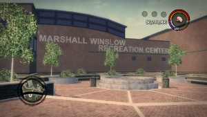 Marshall Winslow Recreation Center sign