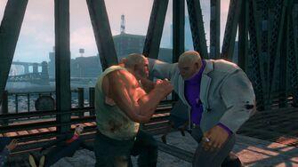 Oleg fighting a Brute