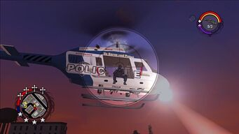Police Chopper - right in Saints Row