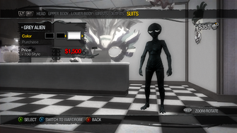 Suits - Grey Alien - recoloured black