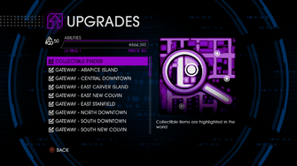 Upgrades menu in Saints Row IV - Page 1 of Abilities