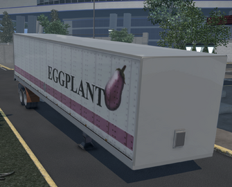 Flatbed trailer with Box - Eggplant