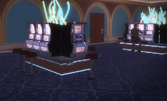 Poseidon's Palace - Gambling machines around square seating