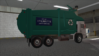 Saints Row variants - Stilwater Municipal - Recycle Truck - rear right