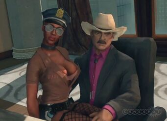Burt Reynolds with hooker in Zombie Attack in Saints Row The Third