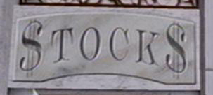 Stocks sign
