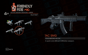 TAC SMG in Friendly Fire in Saints Row IV