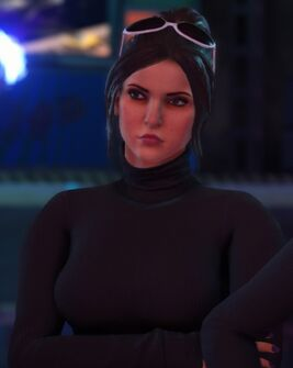 Viola in an unknown cutscene in Saints Row The Third Remastered