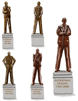 Alderman Hughes Statue Concept Art 01 - Variants