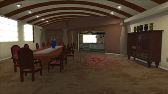 Lopez Mansion in Saints Row - Dining Room