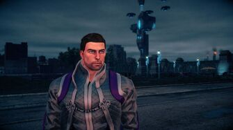Playa in the Sim Suit in Saints Row IV