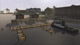 Saints Row demo loading screen - Docks