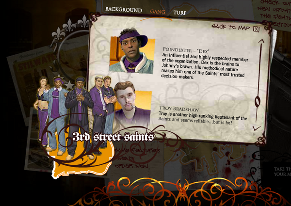 Saints Row promo website - Dex