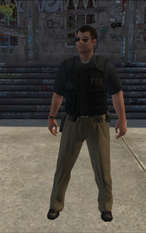 FBI - white - character model in Saints Row