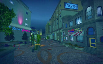 Nob Hill in Saints Row 2 - walkway