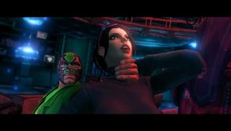 Trojan Whores - Killbane strangling Kiki DeWynter