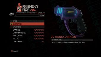 Weapon - Pistols - Alien Pistol - Upgrades