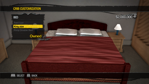 Penthouse Loft - Crib Customization - Bed - King size