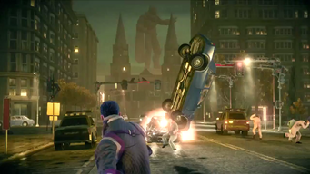 Saints Row IV Announce Teaser - alien statue
