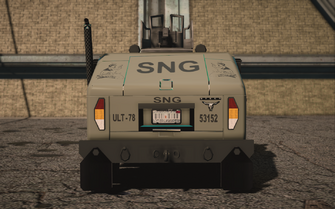 Saints Row IV variants - Bulldog (turret) Military - rear