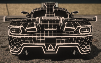Saints Row IV variants - Wireframe Peacemaker Chopshop - rear