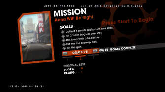 Saints Row Money Shot Mission objectives - Anna Will Be Right Back - 2 of 3 goals screen