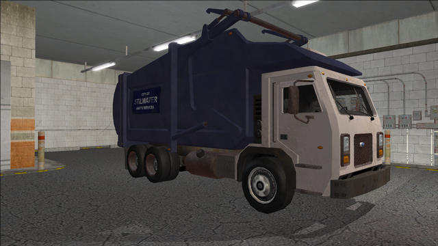 File:Saints Row variants - Stilwater Municipal - Garbage Truck - front right.png