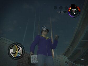 Satchel Charge - in-game in Saints Row 2