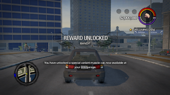 Driving Stunts - Bandit unlocked in Saints Row 2