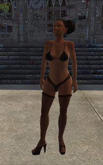 Stripper - Black - Cutscene - character model in Saints Row