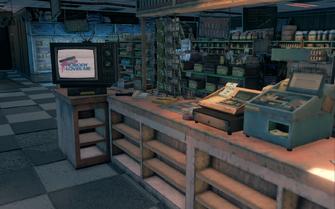 Steelport News interior behind counter in Saints Row The Third