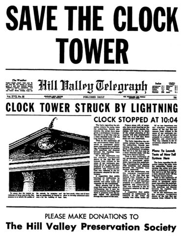 File:A Pleasant Day - Back to the Future save the clock tower original flyer.jpg